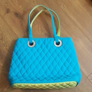 Vera Bradley Tote Turquoise and Green